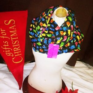 🆕🎄 Betsey Johnson colorful LARGE infinity scarf